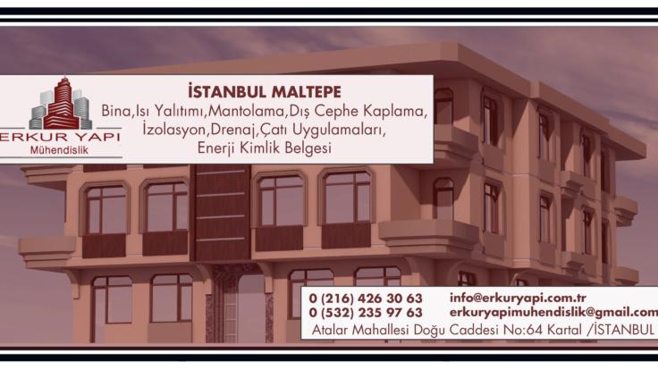 İstanbul Maltepe İnşaat,Bina,Isı Yalıtımı,Mantolama,Dış Cephe Kaplama,İzolasyon,Drenaj,Çatı Uygulamaları,Enerji Kimlik Belgesi