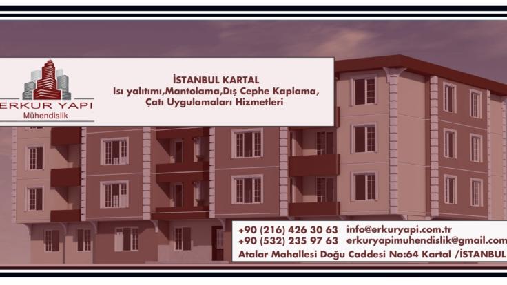 İstanbul Kartal İnşaat Isı yalıtımı,Mantolama,Dış Cephe Kaplama,Çatı Uygulamaları Hizmetleri